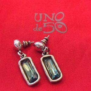 NWT UNO de 50 Aurora Borealis Dangle Earrings